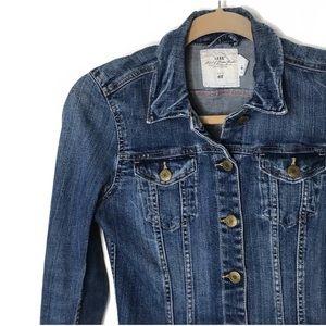 H&M• L.O.G.G. Denim Long Sleeve Distressed Jacket